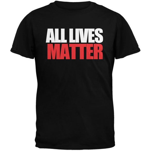 All Lives Matter Black Adult T-Shirt