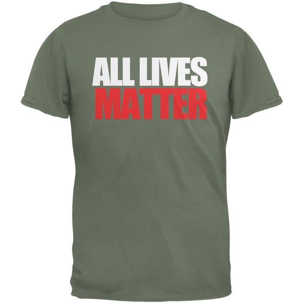 All Lives Matter Military Green Adult T-Shirt