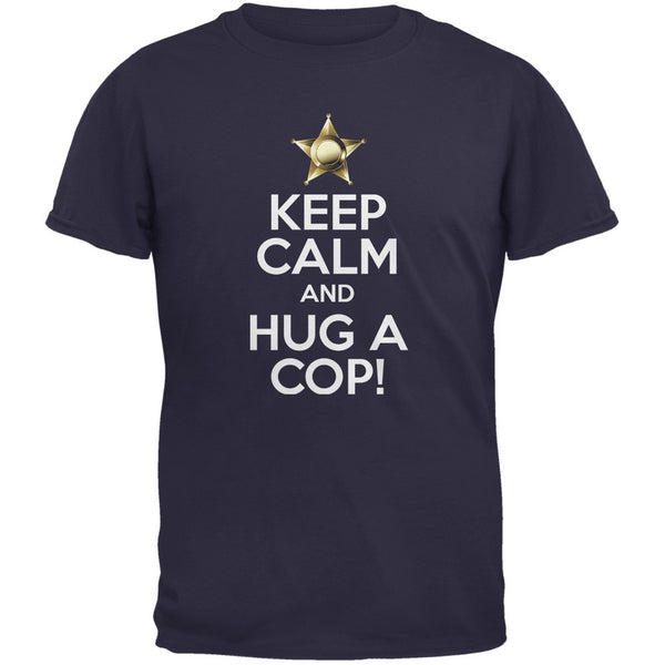 Keep Calm and Hug a Cop Black Adult T-Shirt