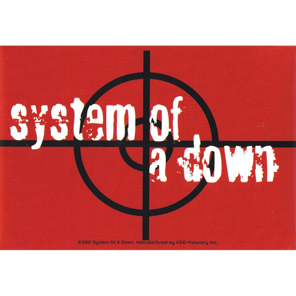 System Of A Down - Target - Decal