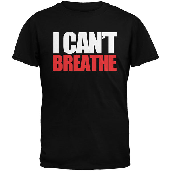 I Can't Breathe Military Green Adult T-Shirt
