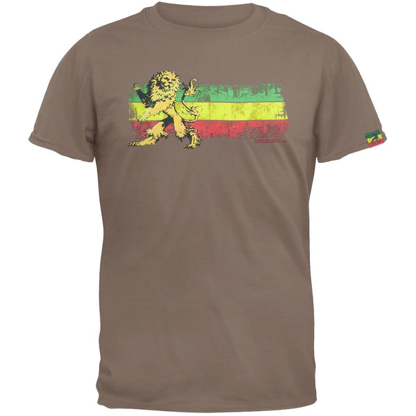 Rastafari - Lion Rasta Stripe Adult T-Shirt