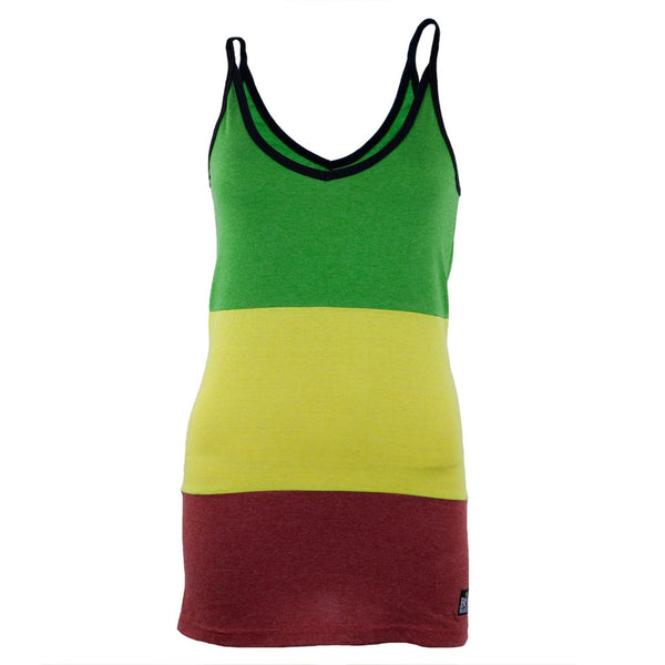 Bob Marley - Rasta Stripe Juniors Tank Top
