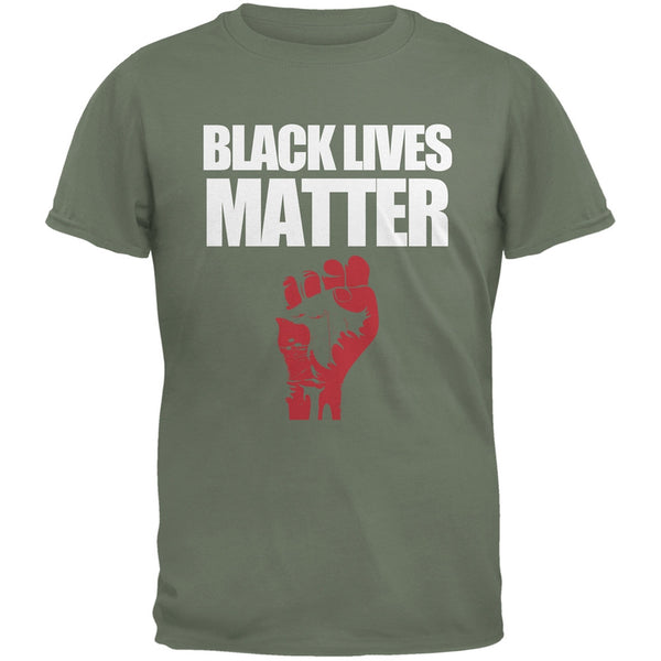 Black Lives Matter Military Green Adult T-Shirt