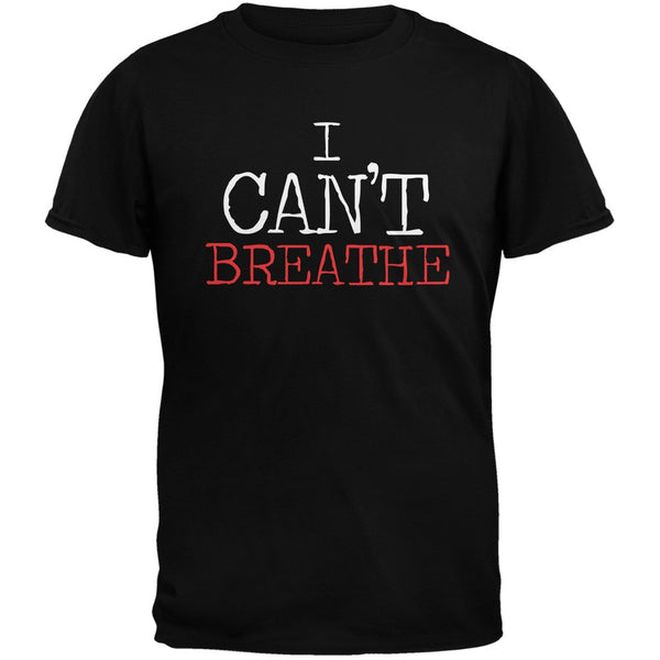I Can't Breathe Typewriter Military Green Adult T-Shirt