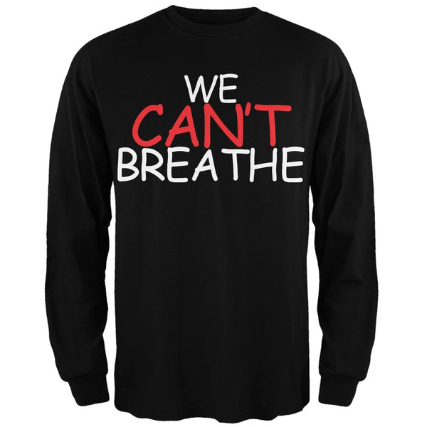 We Can't Breathe Comic Black Adult Long Sleeve T-Shirt
