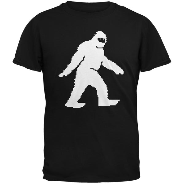 8-Bit Sasquatch Black Adult T-Shirt