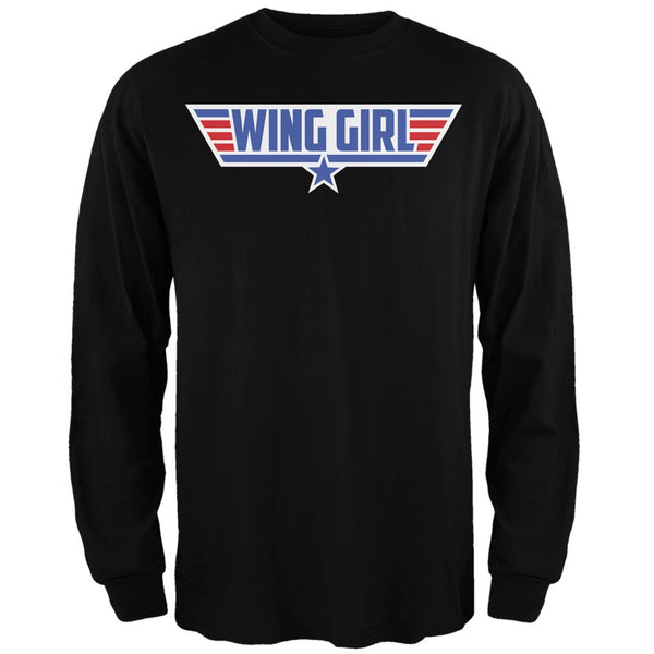 Wing Girl Black Adult Long Sleeve T-Shirt