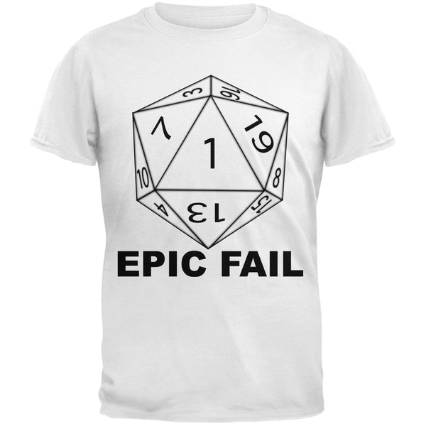 Epic Fail D20 Role Playing Game Grey Youth T-Shirt