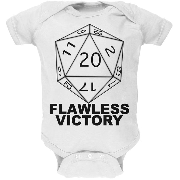Flawless Victory D20 Role Playing Game White Baby One Piece