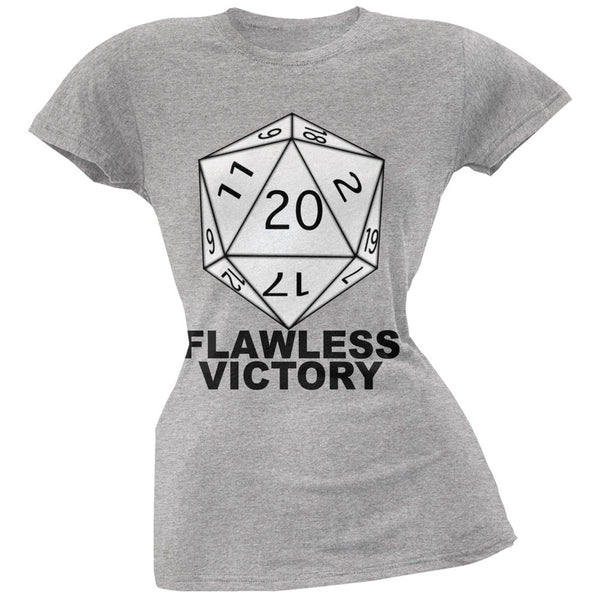 Flawless Victory D20 Role Playing Game Grey Juniors T-Shirt