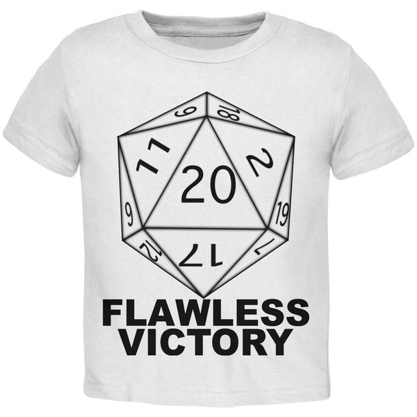 Flawless Victory D20 Role Playing Game White Toddler T-Shirt