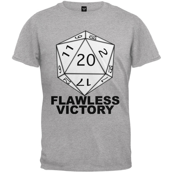 Flawless Victory D20 Role Playing Game Grey Youth T-Shirt
