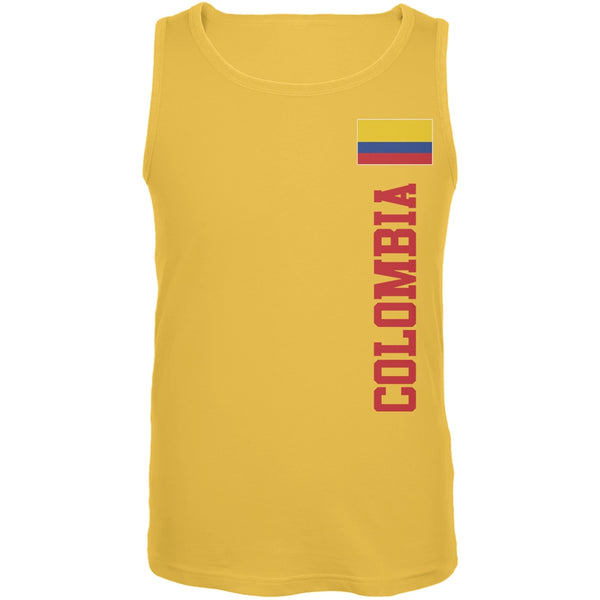World Cup Colombia Yellow Adult Tank Top