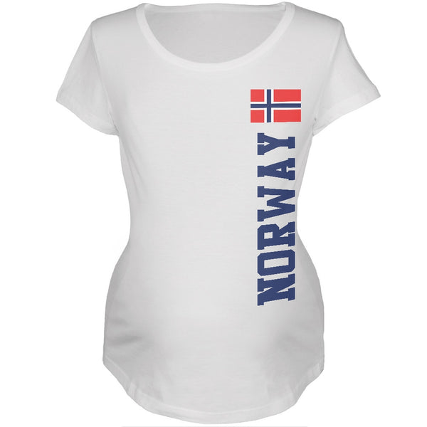 World Cup Norway White Womens Soft Maternity T-Shirt