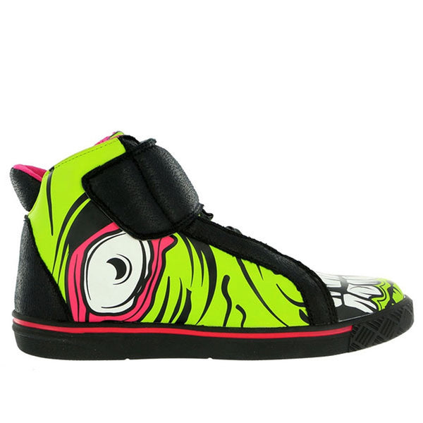 Iron Fist - Zombie Stomper Green Womens High Top Sneakers