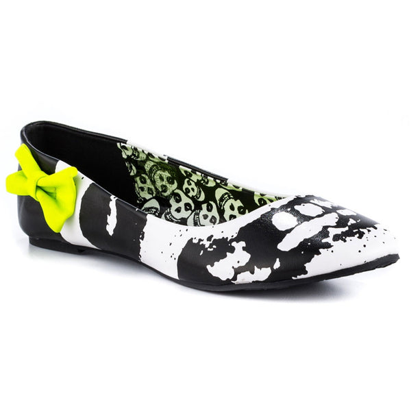 Iron Fist - Misfits Skull Black Womens Flats