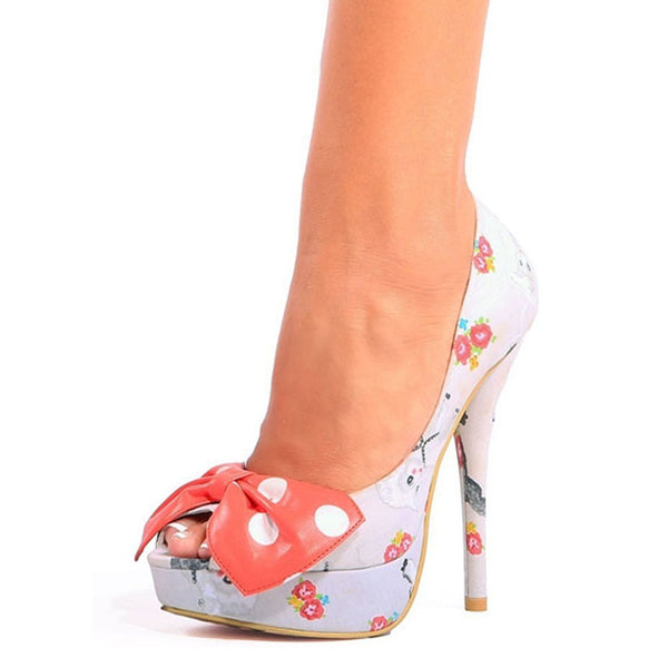 Iron Fist - Black Sheep Nude Womens Peep Toe Platform Pumps