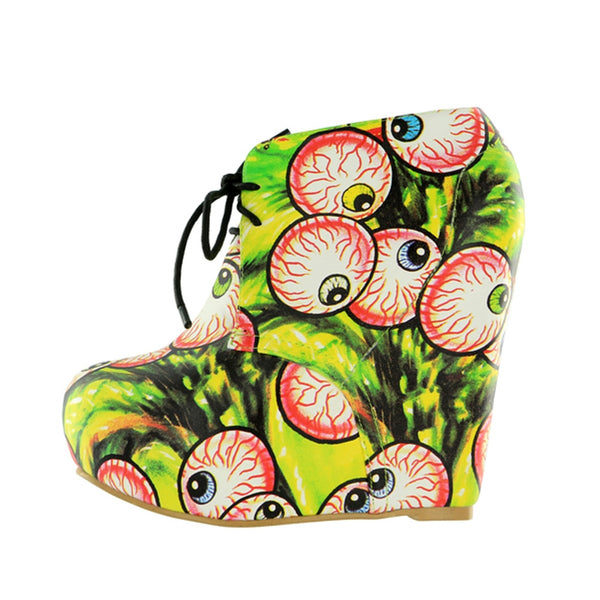Iron Fist - Timmy Chew Green Womens Wedge Shoes