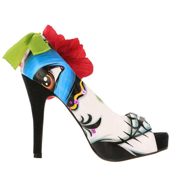 Iron Fist - Lady Killer Bone Womens Peep Toe Platform Pumps