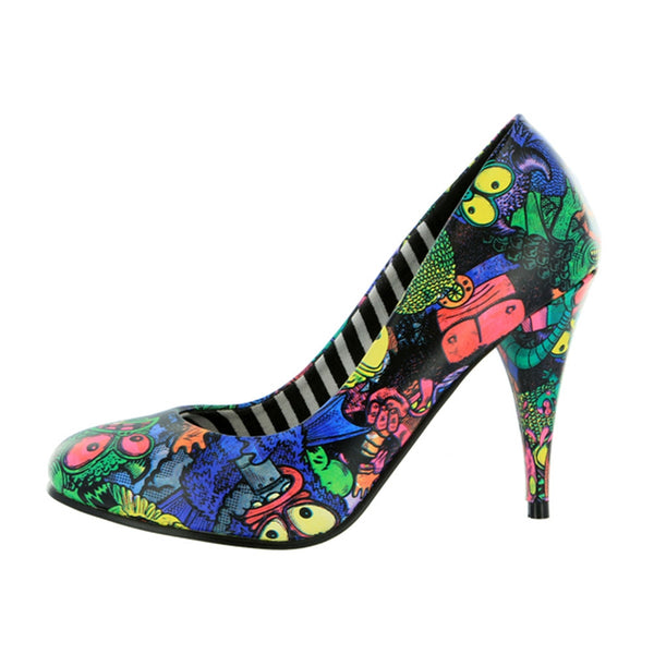 Iron Fist - Party Monster Black Womens High Heel Shoes