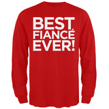 Valentine's Day - Best Fiance Ever Black Adult Long Sleeve T-Shirt