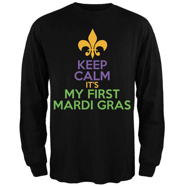Mardi Gras - My First Mardi Gras Black Adult Long Sleeve T-Shirt