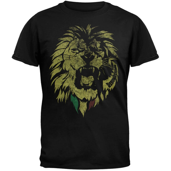Rastafari - Distressed Lion Soft Adult T-Shirt