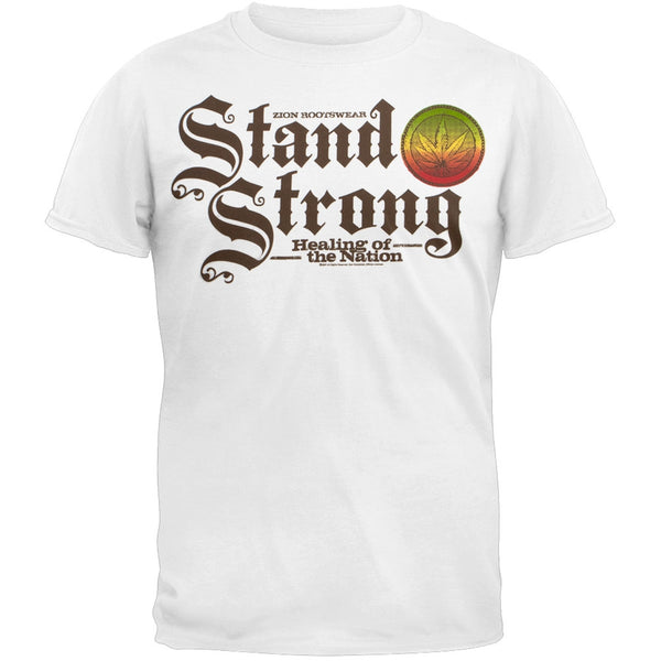 Rastafari - Stand Strong Rasta Adult Soft T-Shirt