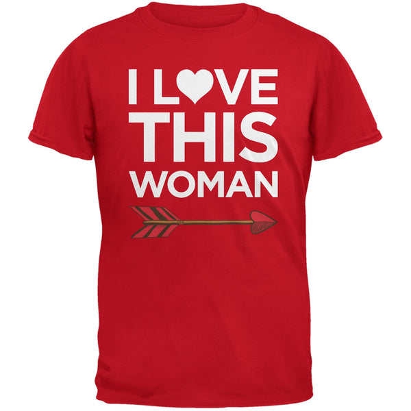 I Love This Woman Red Adult T-Shirt