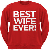 Best Wife Ever Black Adult Crew Neck Sweatshirt