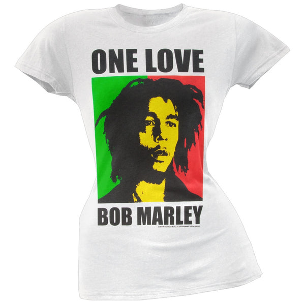 Bob Marley - Rasta One Love Portrait Juniors T-Shirt