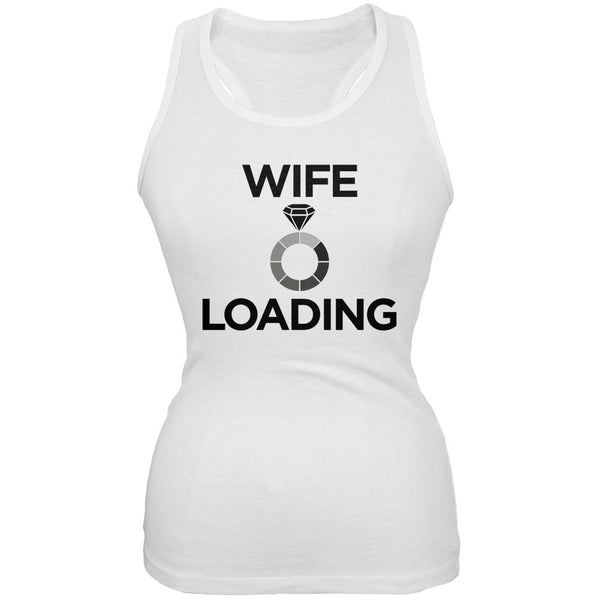 Wife Loading White Juniors Soft Tank Top