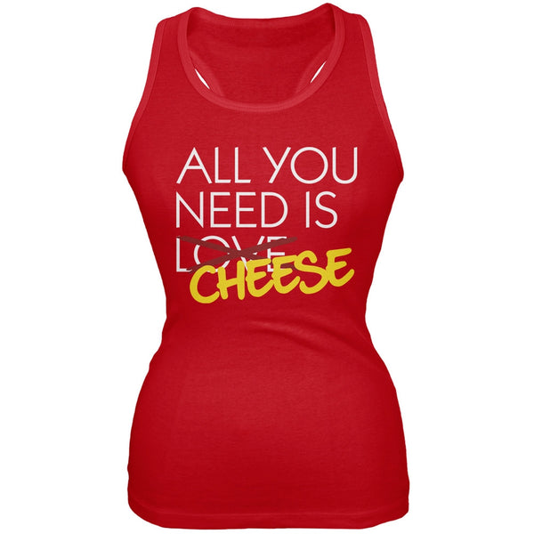 All You Need is Cheese, Not Love Red Juniors Soft Tank Top