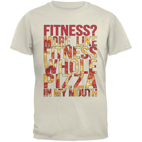 Fitness Whole Pizza In My Mouth Tan Adult T-Shirt