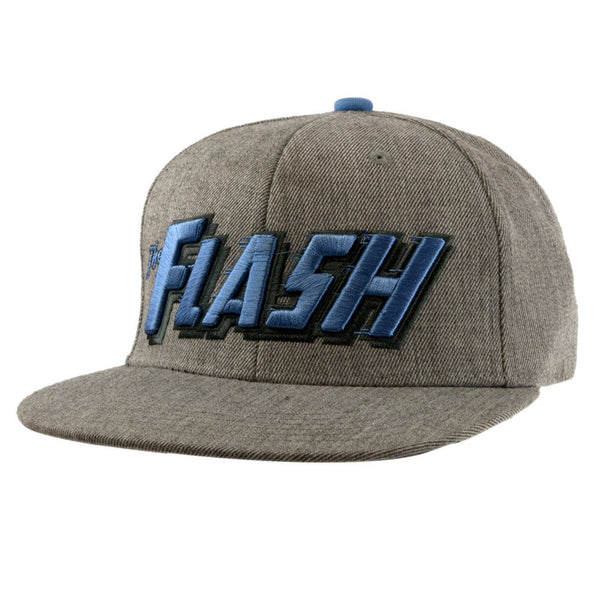 The Flash - Men's Wordmark Logo Heather Snapback Hat
