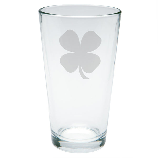 St. Patricks Day - Shamrock Etched Pint Glass