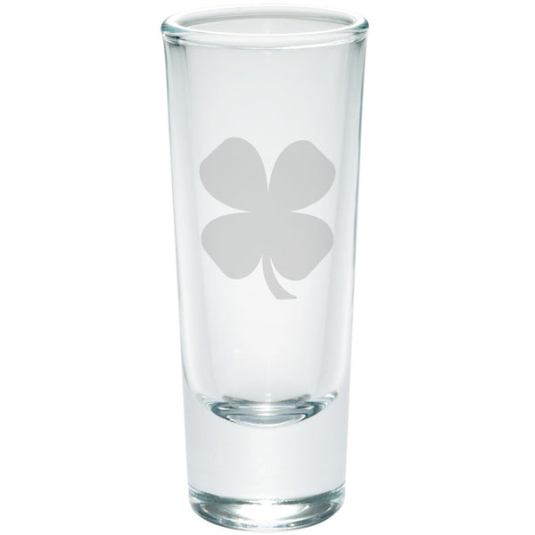 St. Patricks Day - Shamrock Etched Glass Shooter