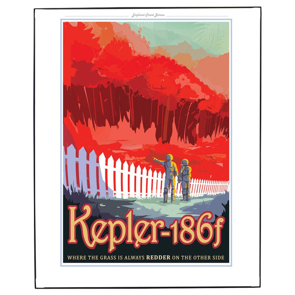 Exoplanet Kepler 186f Framed Wall Art