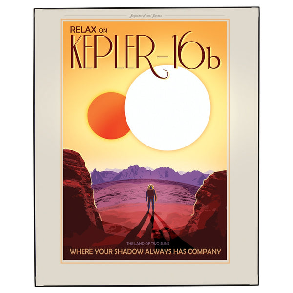 Exoplanet Kepler 16b Framed Wall Art
