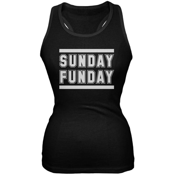 Sunday Funday Black Soft Juniors Tank Top