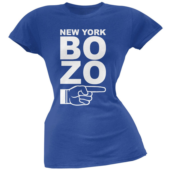 New York Bozo Pointing Right Royal Soft Juniors T-Shirt
