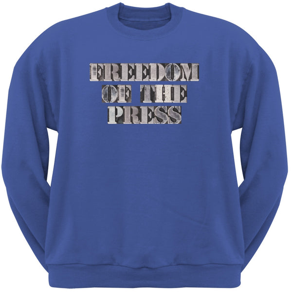 Freedom of the Press Blue Adult Sweatshirt