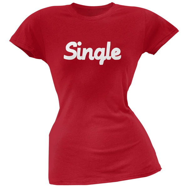 Valentine's Day Single Red Soft Juniors T-Shirt