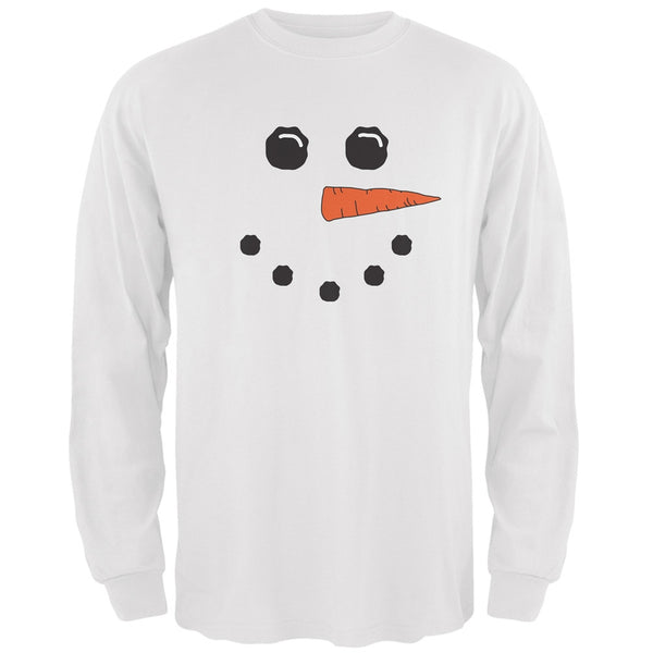 Snowman White Adult Long Sleeve T-Shirt
