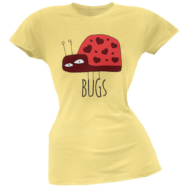 Couples Love Bug Right Yellow Soft Juniors T-Shirt