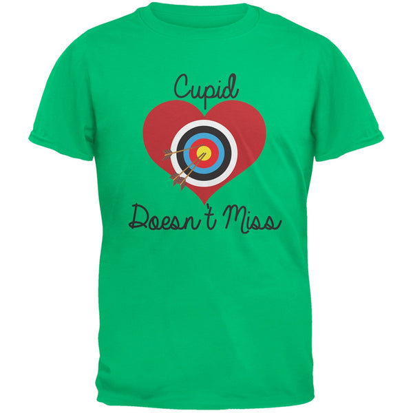 Cupid Doesn't Miss Green Adult T-Shirt