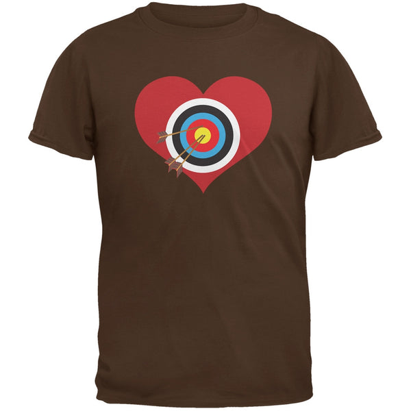 Cupid Target Brown Adult T-Shirt