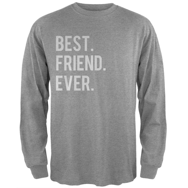 Valentine's Day Best Friend Ever Heather Grey Adult Long Sleeve T-Shirt