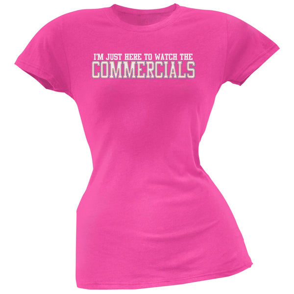 Big Game Commercial Hot Pink Soft Juniors T-Shirt